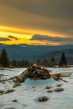 Después de la puesta del sol de la tormenta Imágenes de archivo libres de regalías