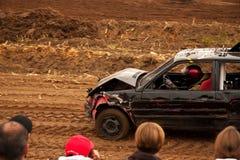 Después de la raza de coche común Foto de archivo libre de regalías