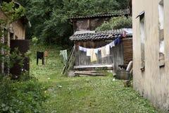 Después de lavadero Distrito de Uzupis, Vilna, Lituania Imagenes de archivo