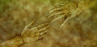 Después de Michelangelo - de Jesús y de Peter ilustración del vector