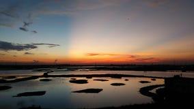 Después de puesta del sol Fotos de archivo