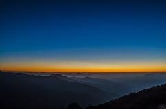 Después de puesta del sol Foto de archivo libre de regalías