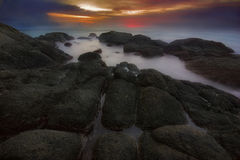 Después de puesta del sol en Phuket Imagen de archivo