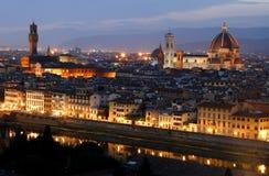 Después de puesta del sol. Florencia. Italia Imágenes de archivo libres de regalías