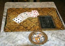 Después de un juego de tarjetas Fotos de archivo