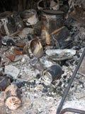 Después del bushfire Fotos de archivo libres de regalías