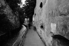 Después del callejón de las paredes, vestigios medievales en la ciudad vieja de Brasov Fotografía de archivo libre de regalías