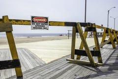 Después del huracán Sandy: Parque de Asbury, New Jersey Imagen de archivo