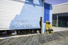 Después del huracán Sandy:  Parque de Asbury, New Jersey Imágenes de archivo libres de regalías