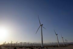 Desrt-Windpark Lizenzfreies Stockfoto