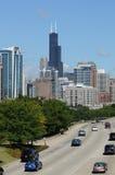dess chicago i stadens centrum huvudväg Arkivfoto