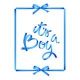 dess pojke bandhandbokstäver med ramen och pilbågar Blåa skuggor och trevliga lutningar Isolerat p? vit vektor illustrationer