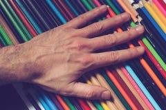 Dessa blyertspennor är min Arkivfoto