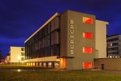 Dessau Bauhaus night Royalty Free Stock Image