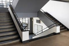 Bauhaus art school iconic building in Dessau, Germany. DESSAU, GERMANY - MARCH 30, 2018: The Bauhaus art school iconic building designed by architect Walter stock photo