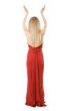 Desserrez de la fille mince dans une robe de soirée Image libre de droits
