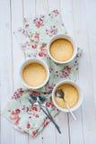 Dessert à la crème cuit au four photographie stock