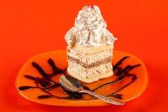 Dessert à la crème fouetté Photographie stock libre de droits