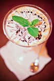 Dessert, сocktail drink with coffee Royalty Free Stock Image