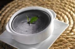 Dessert. Black sesame dessert with table top setting Stock Image