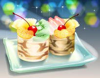 Dessert royalty-vrije illustratie