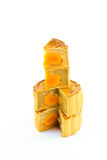 Dessert. Moon cake from the market in Thailand Royalty Free Stock Photos