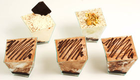 Dessert. On a white background Stock Photo