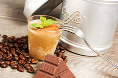 Dessert. At coffee with chocolate Stock Photo