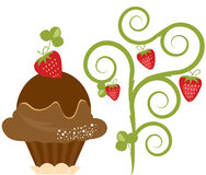 Dessert. Vector Delicious Strawberry Ice Cream Dessert vector illustration