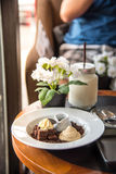 Dessert afternoon tea and coffee Royalty Free Stock Image