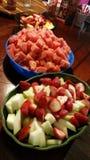 Dessert al gusto di frutta Fotografia Stock