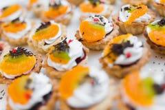Dessert alla panna Fotografia Stock