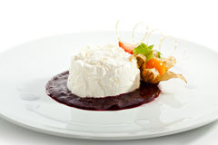 Dessert alla panna fotografie stock