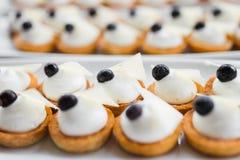 Dessert alla panna Fotografia Stock Libera da Diritti