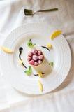 Dessert alla panna del ghiaccio Fotografie Stock