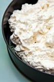 Dessert alla panna del ghiaccio della meringa Fotografia Stock Libera da Diritti