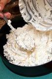 Dessert alla panna del ghiaccio della meringa Immagini Stock
