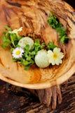 Dessert alla panna gastronomico pranzante fine del ghiaccio Fotografia Stock