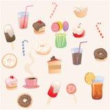 Dessert&drinks Fotografia Stock