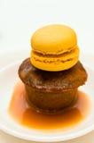 Dessert appiccicoso del pudding Immagini Stock