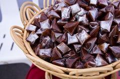 Dessert appiccicoso tailandese del Brown Immagini Stock