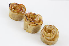 Dessert apple cakes. Desert for Rosh HaShana, the Jewish new year. Made of apples for sweet New Year stock photos