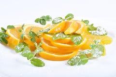 Dessert arancio Fotografia Stock Libera da Diritti
