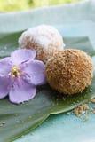 Dessert asiatico, torta di riso fotografie stock libere da diritti