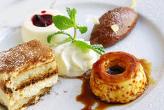 Dessert Assorted immagine stock