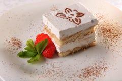 dessert avec de la sauce photos libres de droits