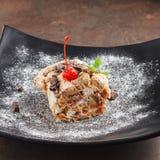 Dessert avec des cerises photo libre de droits