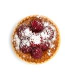 Dessert avec des framboises Photos libres de droits