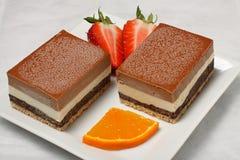 Dessert avec des fruits Images libres de droits
