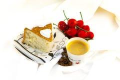 Dessert avec du café Images libres de droits
